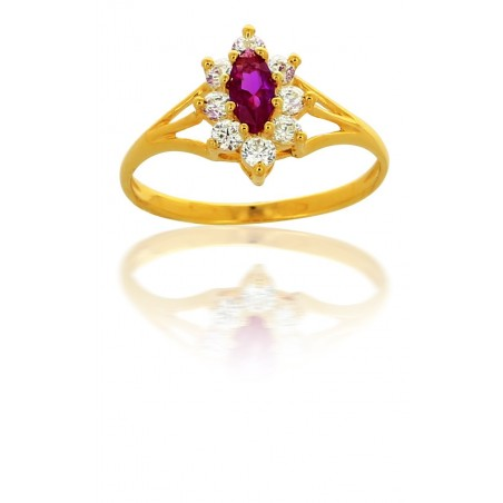 "Bague ""Rubis"" Or 18 Carats"