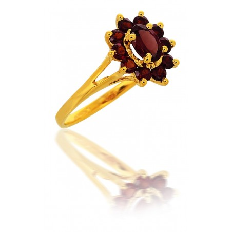 Bague Grenat Or 18 Carats