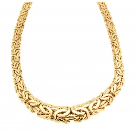 collier or femme maille plate