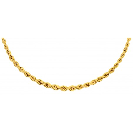Collier Corde Or Jaune 18 Carats